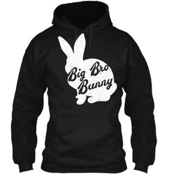 Funny & Cute Easter Tshirt Big Bro Bunny Easter Brother Tee Pullover Hoodie 8 oz