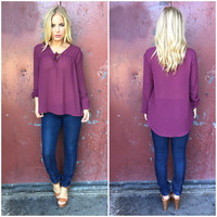 Winter Love Long Sleeve Blouse