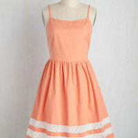 She and Trim Dress in Apricot