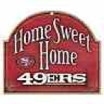 "SAN FRANCISCO 49ERS HOME SWEET HOME ARCHED WOOD SIGN 10""x11"" BRAND NEW WINCRAFT"