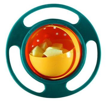 Toddler spill-proof snack bowl gyro