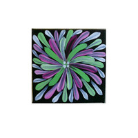 Painting Flower Pink and Green Aboriginal Inspired by Acires