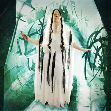 Rob Zombie Men's  Living Dead Girl Dress And Wig Costume White