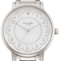 Women's kate spade new york 'gramercy' scalloped dial bracelet watch, 34mm - Silver