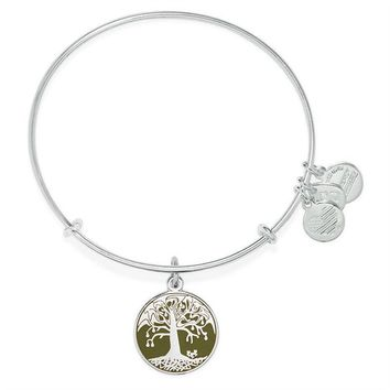 Alex and Ani Avocado Tree of Life Charm Bangle - Shiny Silver Finish