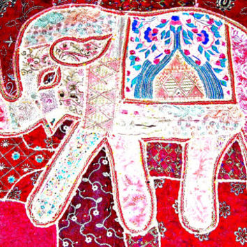 elephant wall hanging Indian wall hanging elephant tapestry, elephant wall art wall decor indian table runner elephant wall decal poster