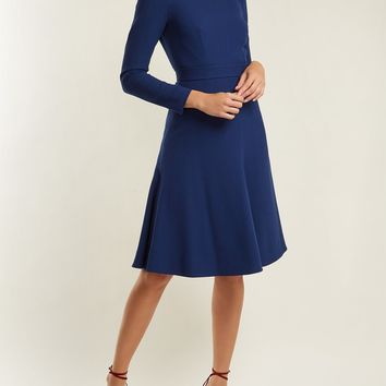 Kate A-line wool-crepe dress | Emilia Wickstead | MATCHESFASHION.COM UK