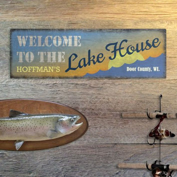 Welcome to the Lake House Wall sign