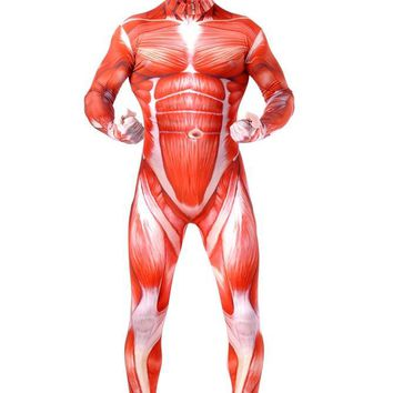 Cool Attack on Titan  Cosplay Costumes Adult Costume   Muscle Muscular Suit Bodysuit Bertolt Hoover Lycra Flesh Zentai AT_90_11