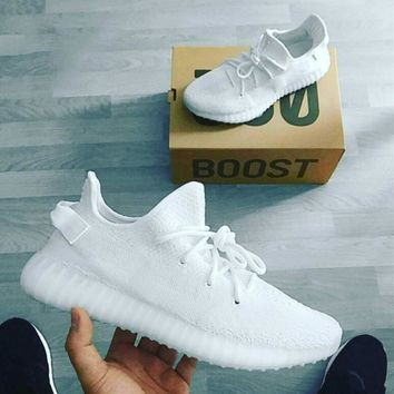 Adidas Yeezy 550 Boost 350 V2 Fashion Unisex Breathable Sport Running Shoe Sneakers Pure White I