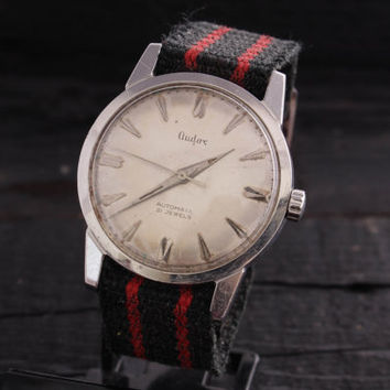 Vintage Audax automatic watch stainless steel swiss watch mens watch