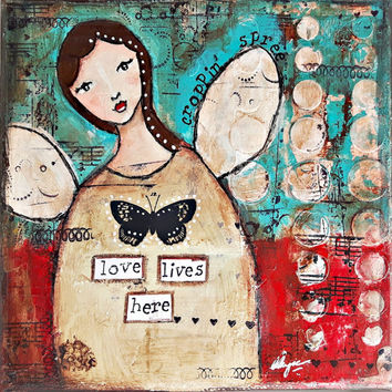 Art Giclee Print, Original Art by Croppin Spree: Love Lives Here