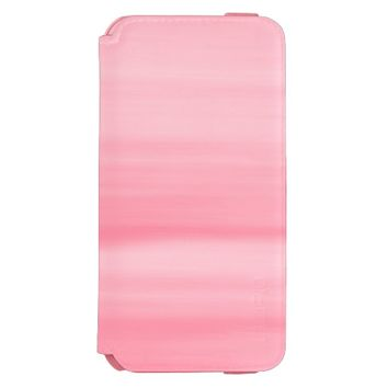 Soft shades of light pink in horizontal stripes incipio watson™ iPhone 6 wallet case