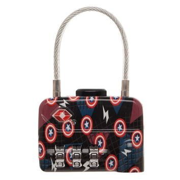 Marvel Comics Captain America Logo TSA Approved Travel Combination Lock