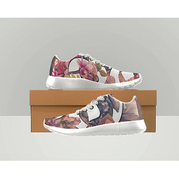 Reiki Charged Womens Floral Shoes Vanns Type Canvas Shoes Converse Type  Womens Shoes