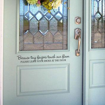 Remove your shoes Front door vinyl decal