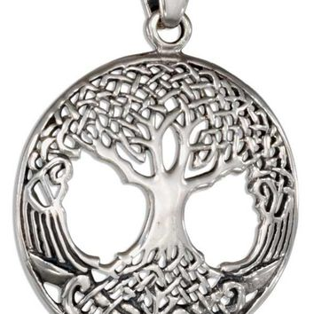 Celtic Tree Of Life Charm - Sterling Silver Pendant - Irish Design