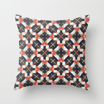 Checkered pattern Throw Pillow by g-man