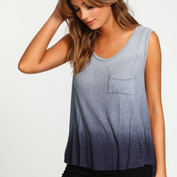 Dip Dye Ribbed Knit Sleeveless Top