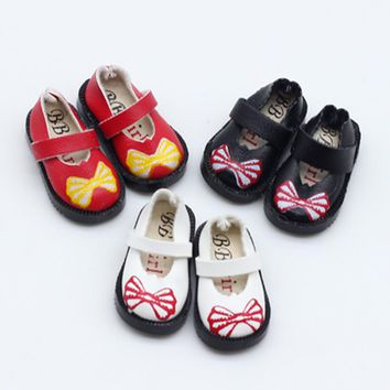 3.3cm 1/8 1/6 Printing bowknot shoes For BJD Blyth Doll Shoes for Pullip Licca Lati Barbies Dolls