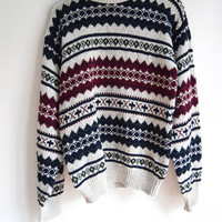 Aztec Striped Sweater for Men and Women by Liberty Size Medium