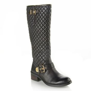 "Vince Camuto ""Wenters"" Quilted Tall Leather Boot at HSN.com at HSN.com"