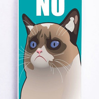 iPhone 5S Case - Rubber TPU Cover with Cactus the Cranky Cat Rubber Case Design