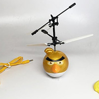 Flying Bird toy Infrared RC Remote Control Helicopter Flying Toy flying Red Blue Yellow bird - Yellow Bird
