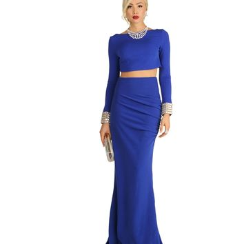 Sandra-royal Two Piece Long Dress