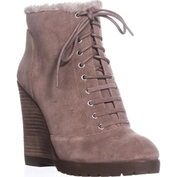 Jessica Simpson Kaelo Ankle Booties, Warm Taupe, 7.5 US / 37.5 EU