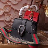 GUCCI WOMEN'S NEW STYLE LEATHER DIONYSUS SHOULDER BAG