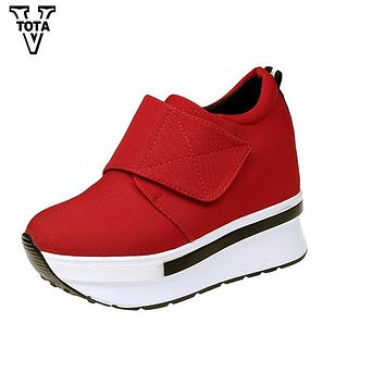 VTOTA Platform Shoes Woman Wedges Women Boots Women's Handmade Shoes Moccasins Shoes Female Soft Breathable Ankle Boots QYXY22