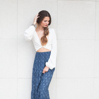 Homestead Printed Skirt - Navy