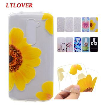 For LG G2 Mobile Phone Shell Transparent Soft tpu Silicone phone Case For LG G2 D801 D802 G3 D855 D850 D851 Cases Back Cover