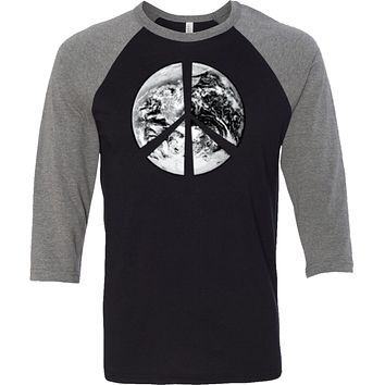Buy Cool Shirts Peace T-shirt Earth Satellite Symbol Raglan