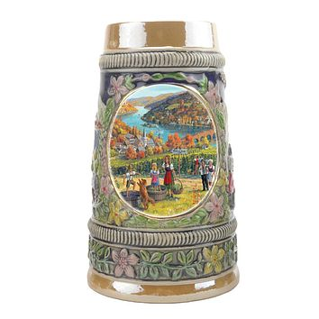 German Fall Ceramic Shot Beer Stein Collectible