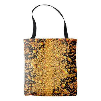 Yellow Bubble Pattern Tote Bag
