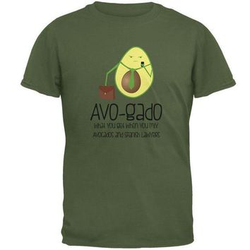 PEAPGQ9 Avocado Abogado Lawyer Funny Spanish Pun Mens T Shirt