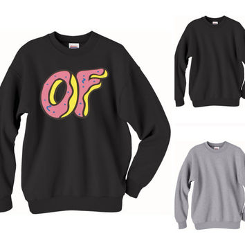 Odd Future Donut Crewneck Sweatshirt - dope swag music golf music band hoodie wolf gang hoodie black and gray all sizes 17