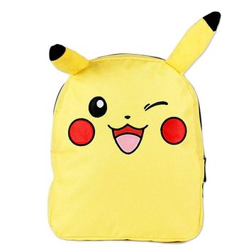 "Licensed New Pokemon Pikachu 10"" Inches Mini Small Backpack Bag"