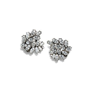 Tory Burch Kenneth Jay Lane For Tory Burch Embellished Cluster Earring