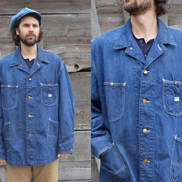 1970's Sanforized Union Made Denim Chore Lee Barn Jacket