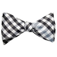 Bias Gingham Bowtie With Contrast Stripe