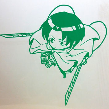 Shingeki No Kyojin ( Attack On Titan) Levi Recon Corps Anime Decal Vinyl Sticker