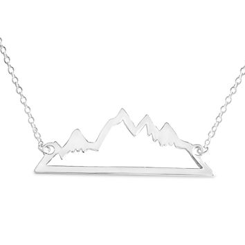 Beautiful Mountain Range Necklace for Skiers and Hikers Online