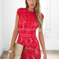 Jessica 2.0 Dress (Red) | Xenia Boutique | Women's fashion for Less - Fast Shipping
