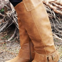 All For Love Boots: Tan
