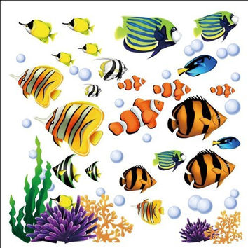 Under the Sea Decorative Peel and Stick Wall Art Sticker Decals