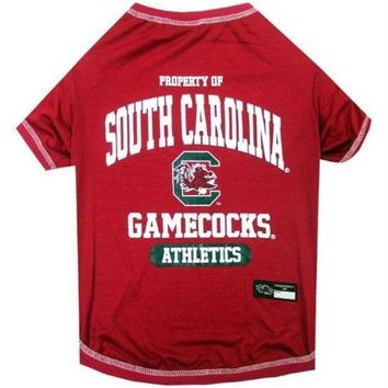 DCCKT9W South Carolina Gamecocks Pet Tee Shirt