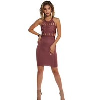 Adrienne Mauve Bandeau Dress